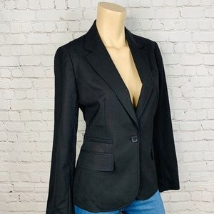 J. CREW Soft Wool Blend Black Lightweight Blazer 6